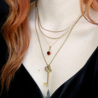 layering necklaces gold