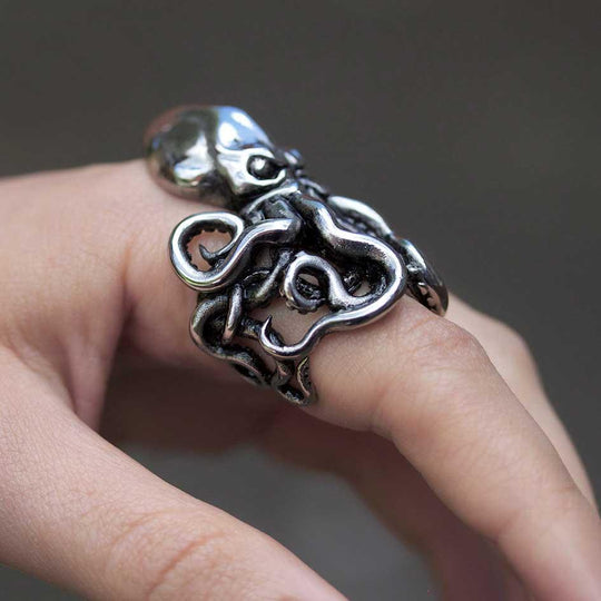 KRAKEN. Giant Octopus Wrap Ring