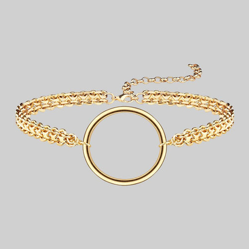 PURITY. Delicate Double Chain Necklace - Gold