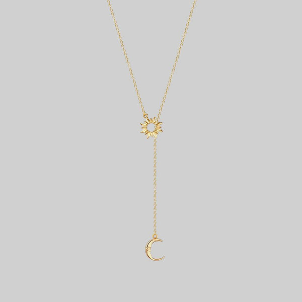 sun and moon lariat necklace