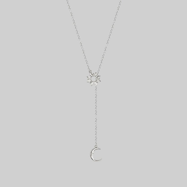 lariat sun and moon necklace