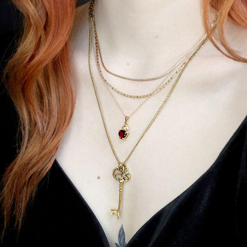 sacred heart gemstone necklace