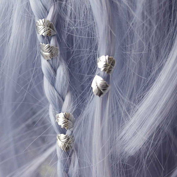 ELVIN. Silver Leaf Hair Twists