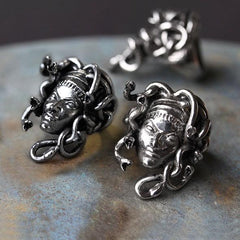 medusa snake head ring
