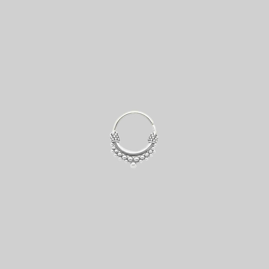 ANNORA MINI. Silver Tibetan Septum Ring - Piercing