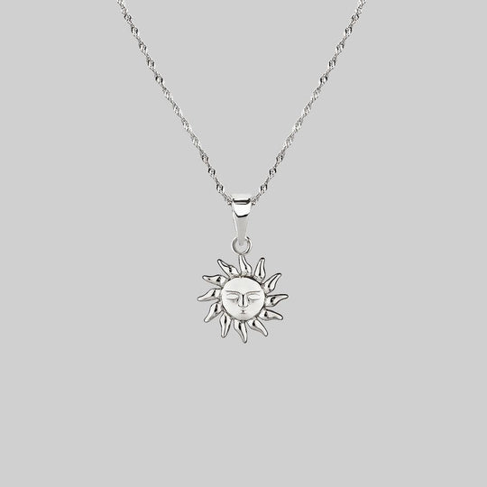 ELIN. Sun & Moon Layering Necklaces - Silver