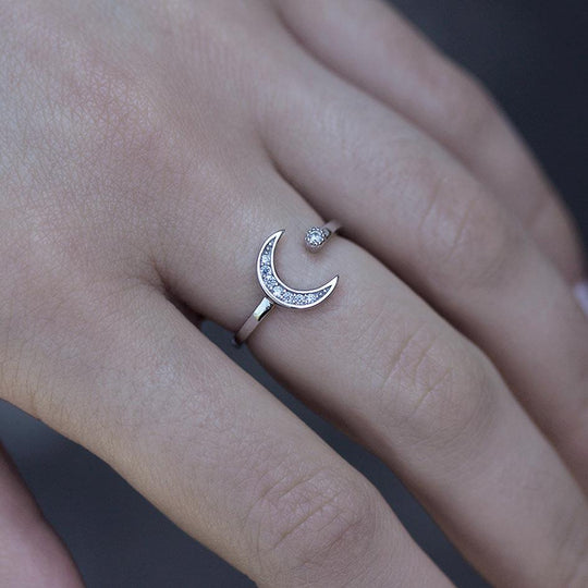 INDU. Moon & Star Ring