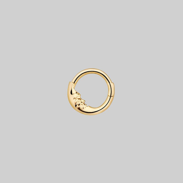 moon septum ring gold