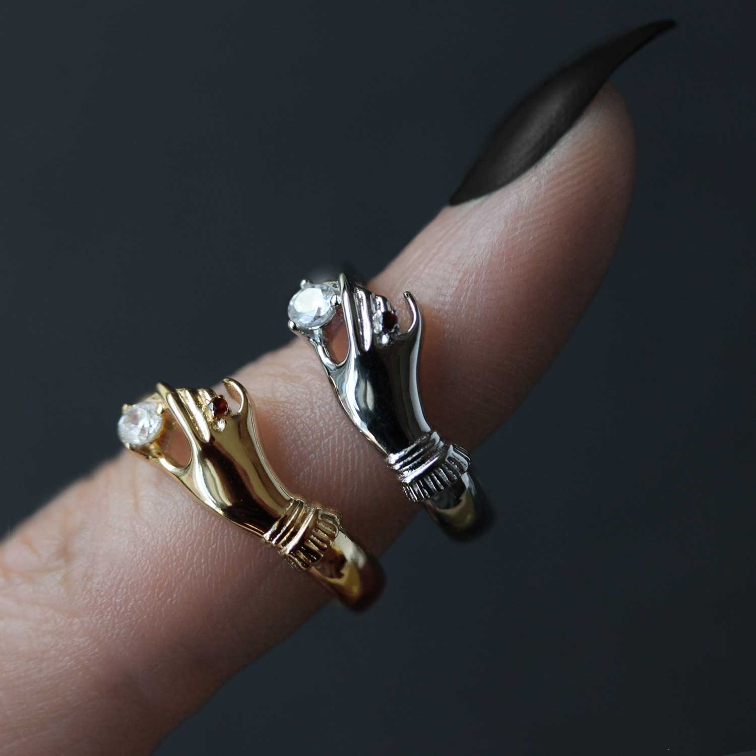 Mildred Disembodied Hand Gold Ring Regalrose