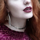 Necklace - LILITH. Silver Bat Choker