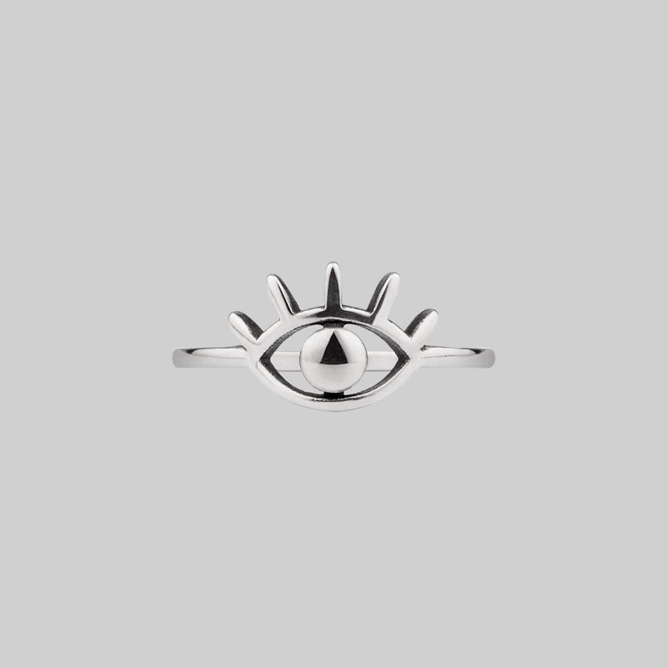 sterling silver eye ring
