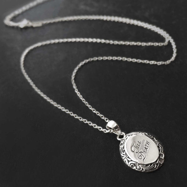 TILL DEATH. Promise Medallion Pendant Necklace