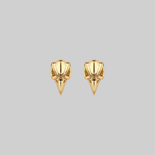 LUNA. Moon Crescent 9K Gold Earrings