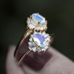 Ring - AURELIA. Opal Cluster Gold Ring