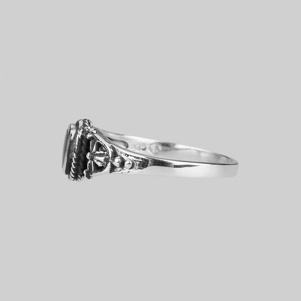 Ring - DARK SOUL. Detailed Onyx Silver Ring