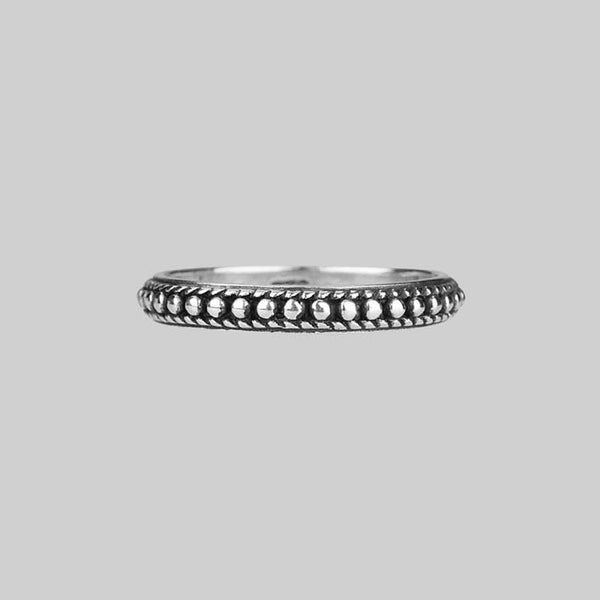 EAST. Dotted Band Silver Ring