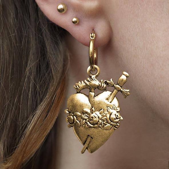 sacred heart statement earring