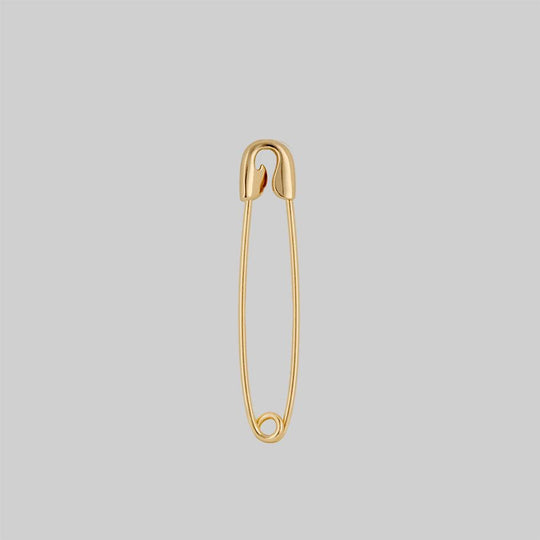 SOLENE. Safety Pin Single Earring - Gold