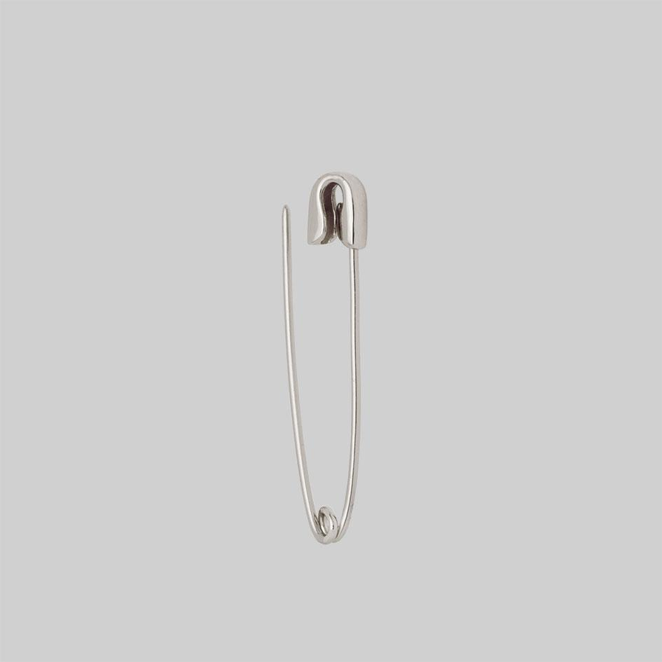 pierced jewellery, silver single earring