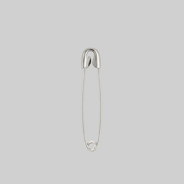 SOLENE. Safety Pin Single Earring - Silver