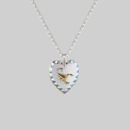 glass heart necklace mariner chain