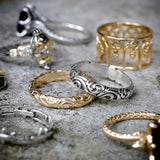 scroll detail band rings