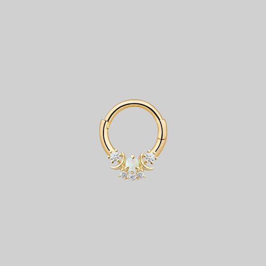 MOONDANCE. Moon Gold Clicker Ring - Septum