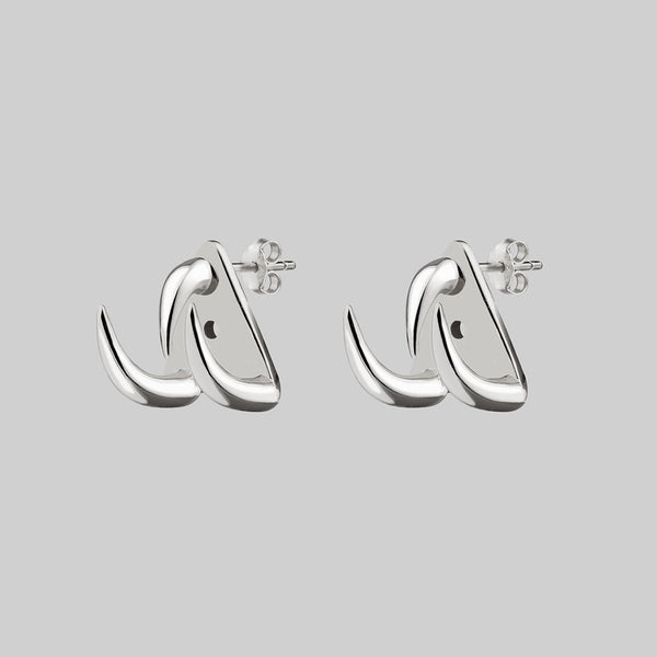 FAWN 3. Three Claw Talon Earrings - Silver