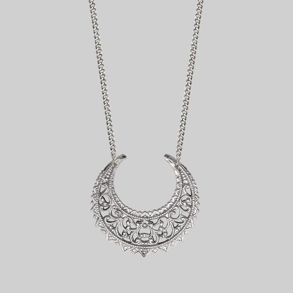 EASTERN CRESCENT. Silver Necklace