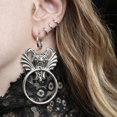 silver door knocker earrings