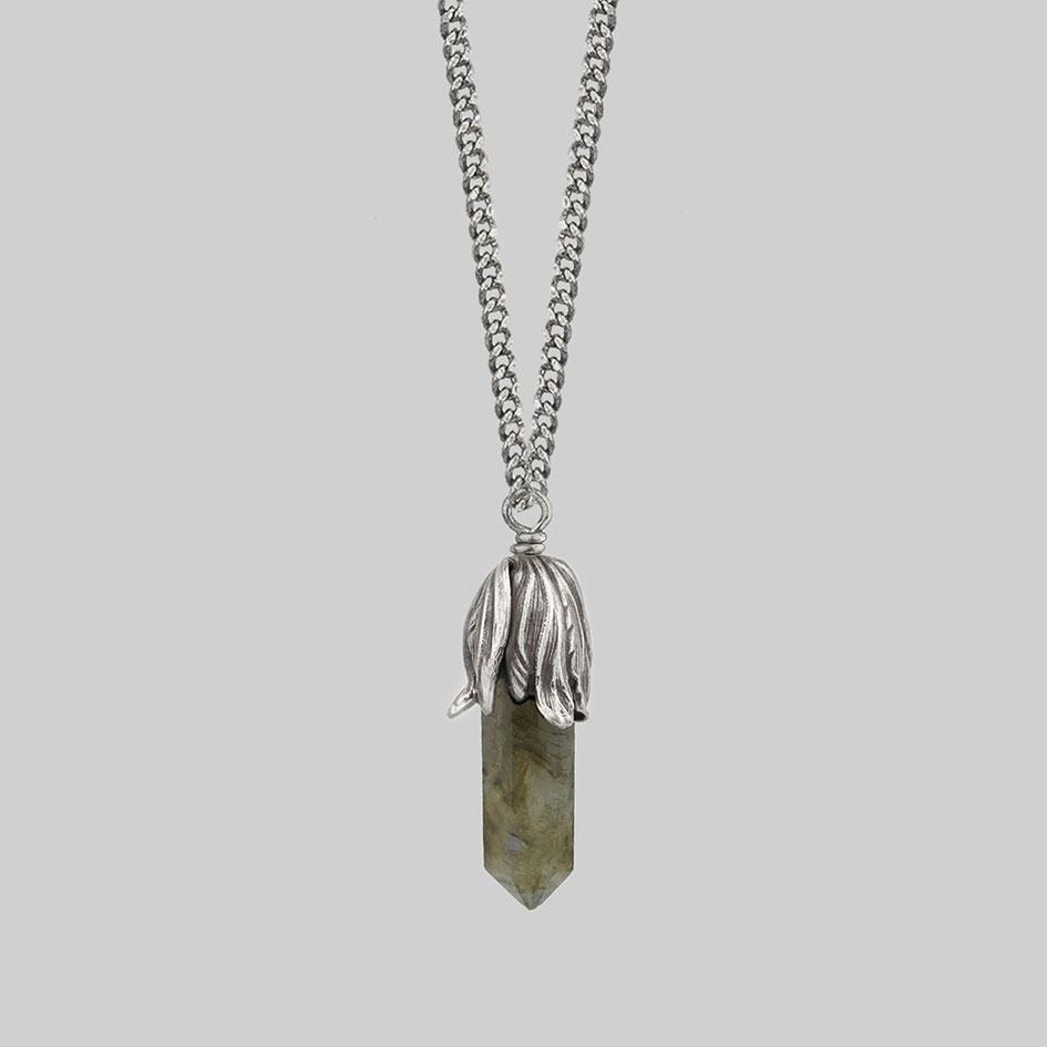 Large labradorite necklace