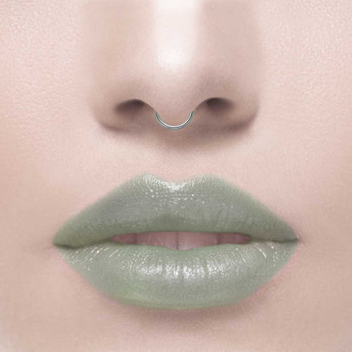 ZEN EXTRA MINI. Silver Septum Clicker Ring