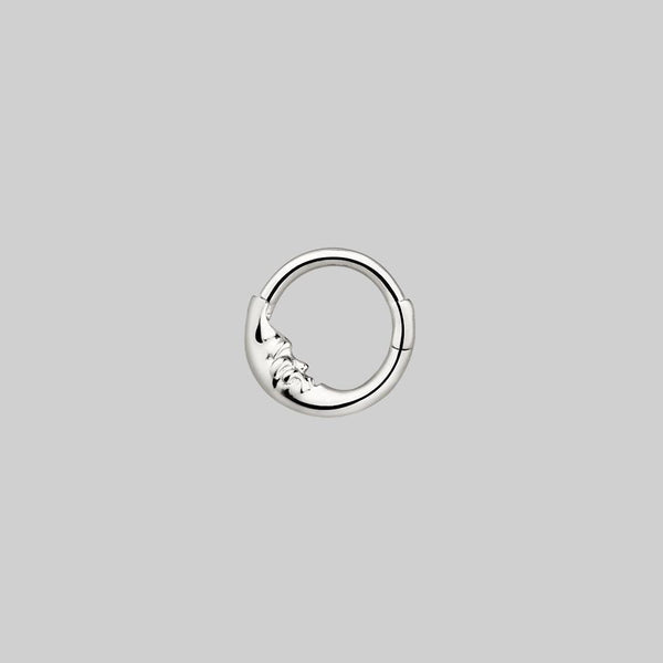 MAN IN THE MOON. Silver Clicker Ring - Septum/Daith/Forward Helix