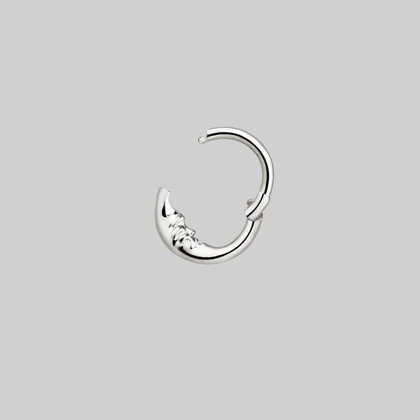 nose ring and daith body jewellery moon face