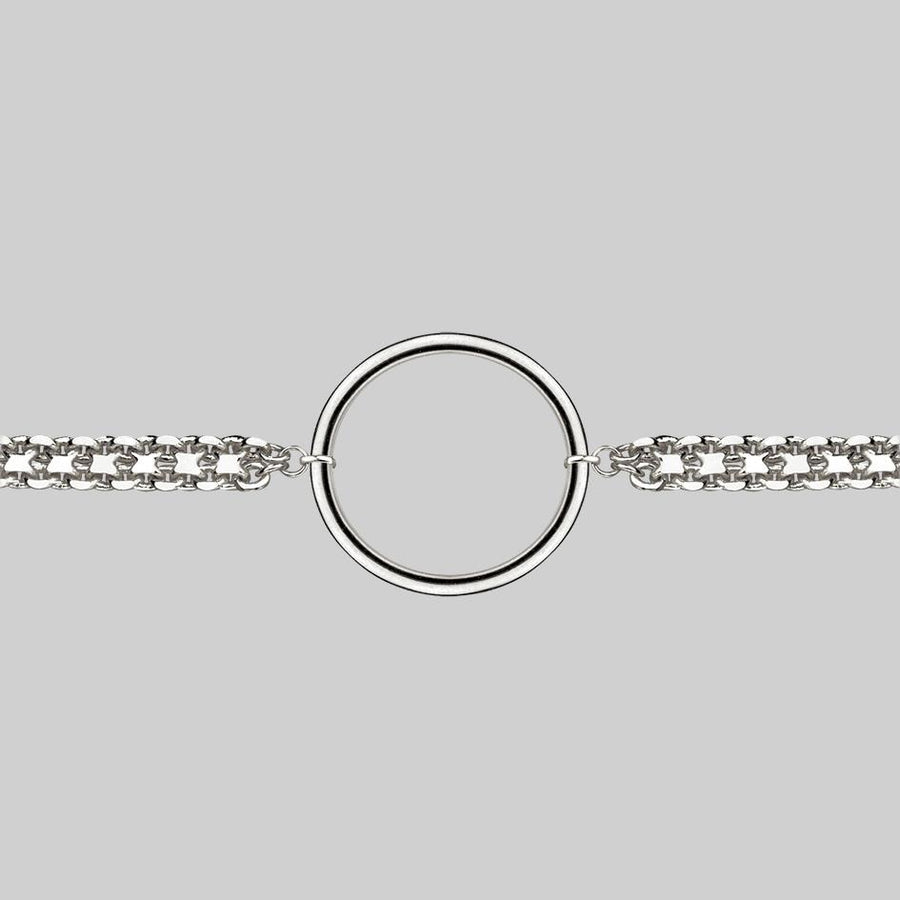 silver ring choker necklace