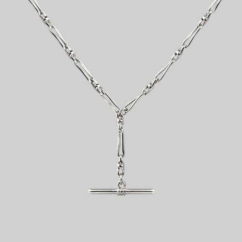 CORA. Circle Chain Collar Necklace - Silver