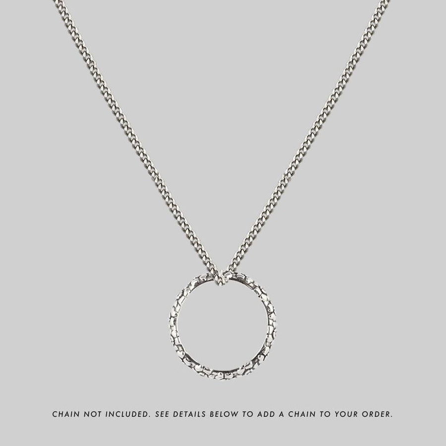 sterling silver posie ring chain necklace