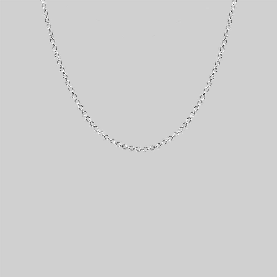 sterling silver trace chain, fine simple necklace