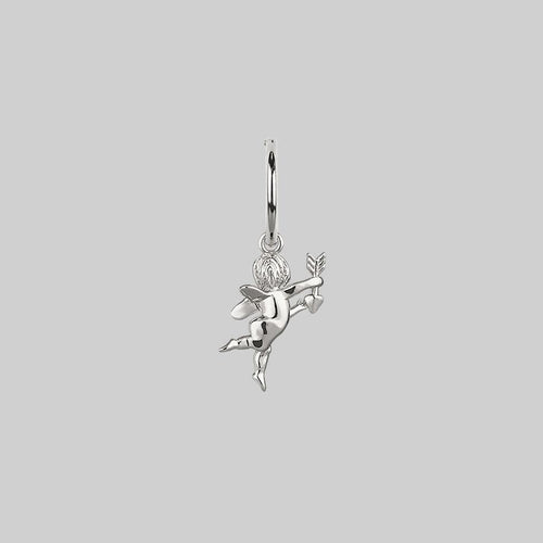love angel earring silver