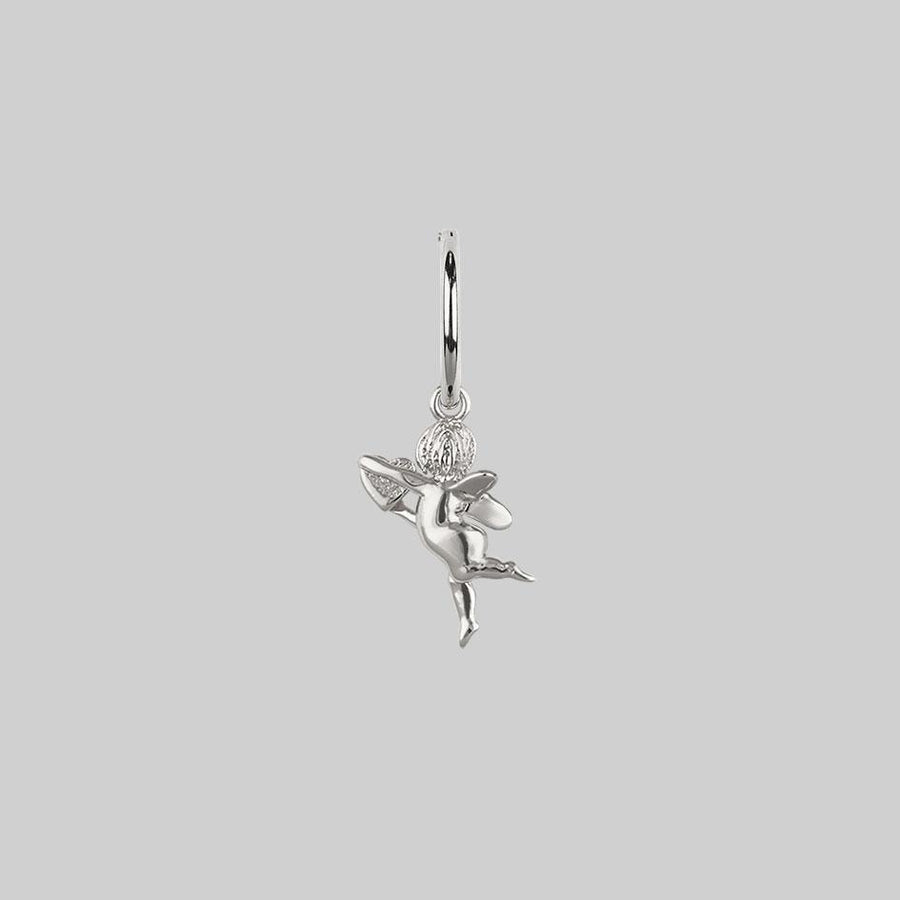 cupid earring, silver cupid jewellery