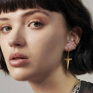 Simple Gold Clicker Hoop Earrings - 10mm