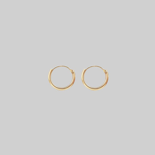 Tiny Gold Hoops - 10mm