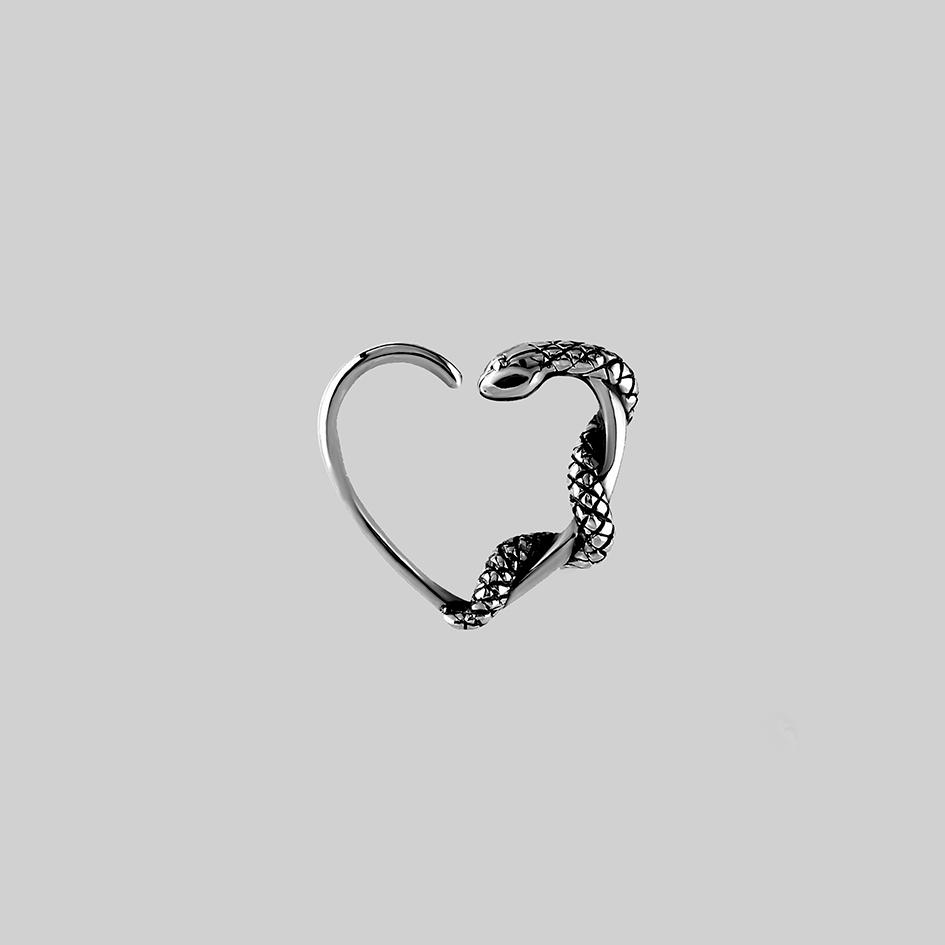slink heart snake ring ear