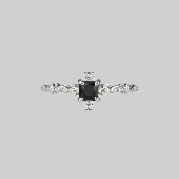 KINGDOM. Regal Black Spinel Silver Ring