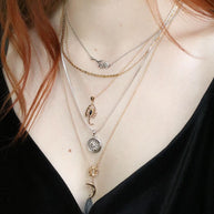 mixed metal layering necklaces
