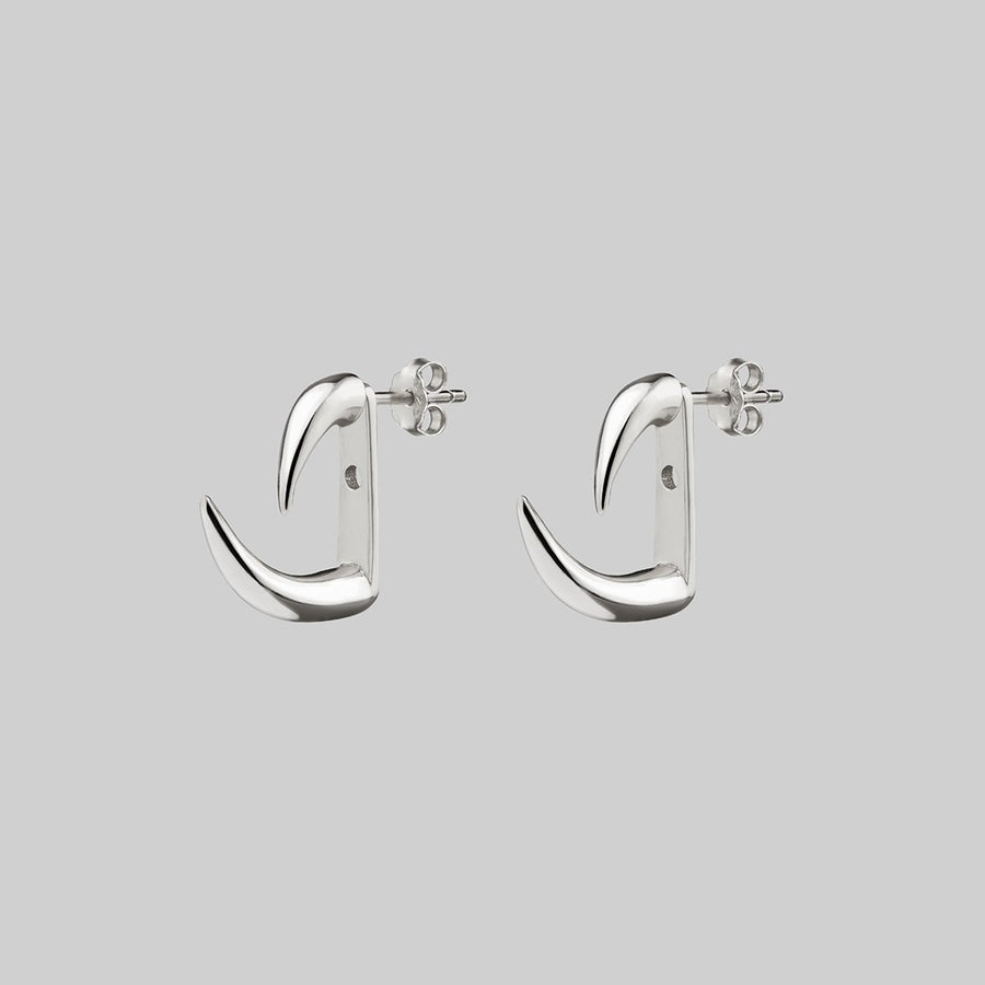 sterling silver claw earrings