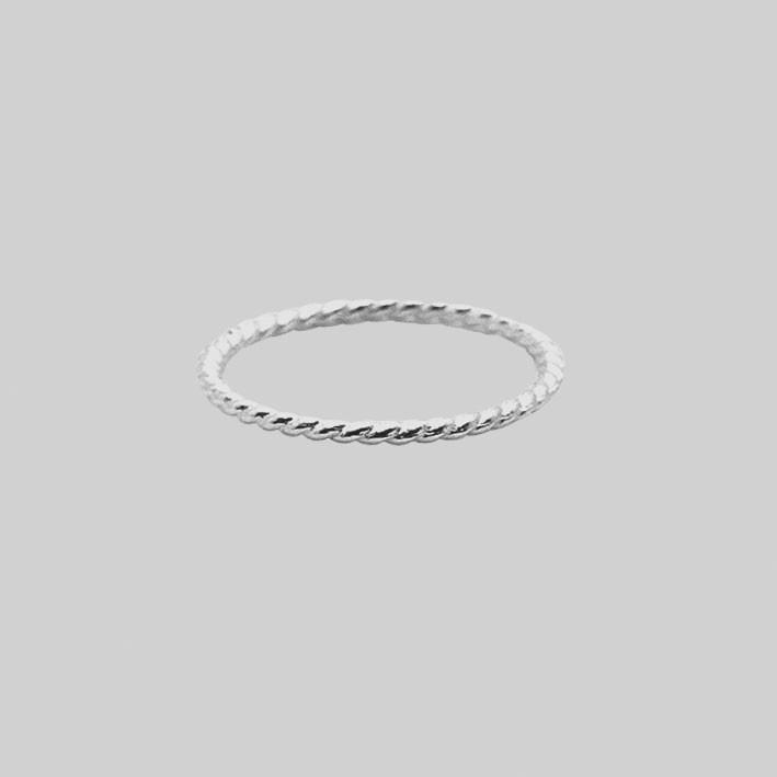 Sterling Silver Twisted Midi Ring