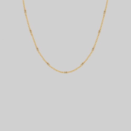 thick chain necklace with sun pattern gold