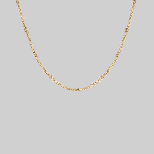 JADE. Sunburst Chain - Gold