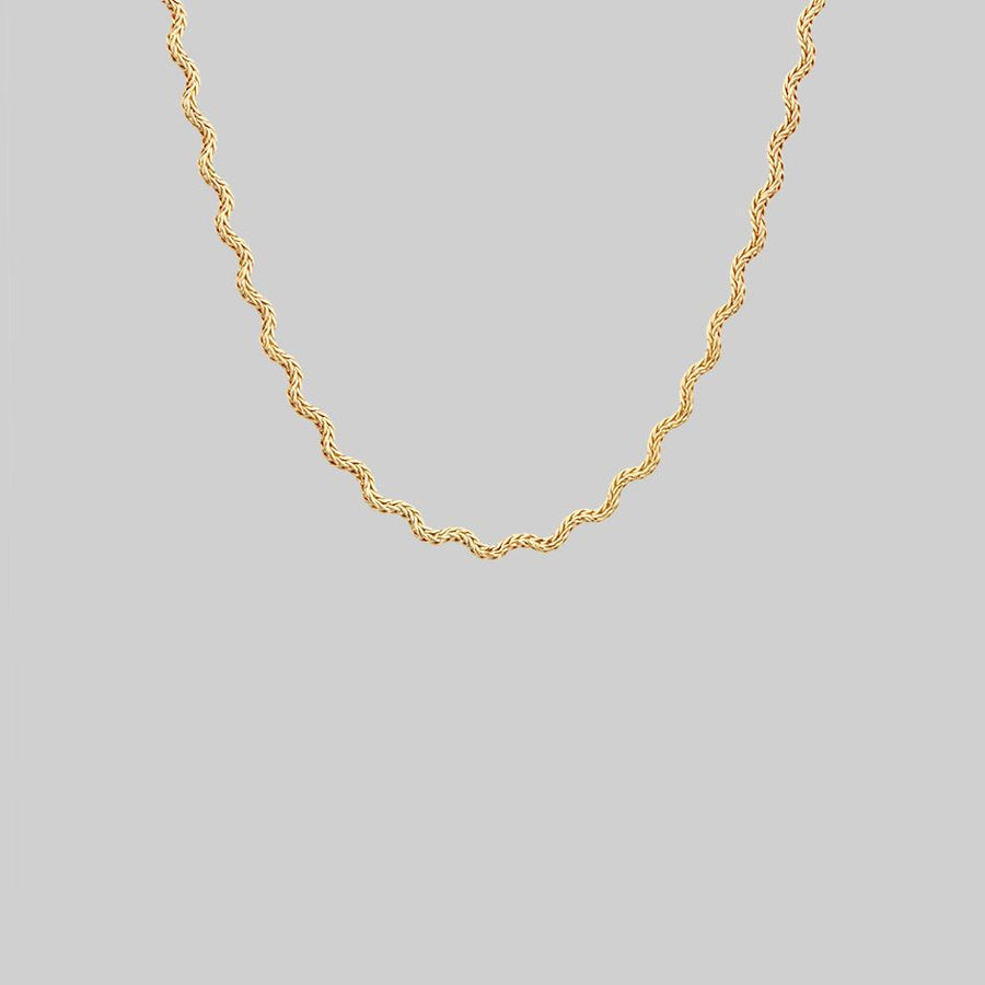 Zip-Zag Chain Collar Necklace gold